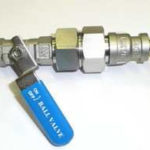 Ручной шаровой кран с фильтром 60 мкм